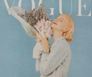 blue, flowers, and vogue image