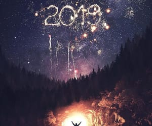 christmas, fireworks, and 2019 image