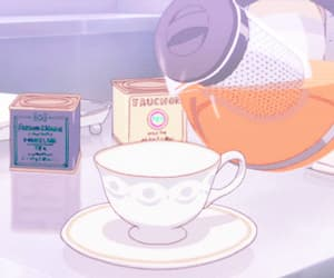 aesthetic, anime, and tea image