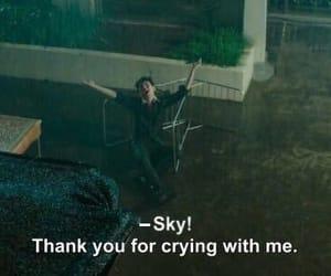 sky, cry, and sad image