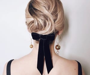 back, bow, and curly image