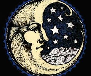 moon, stars, and night image
