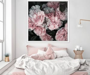 bedroom, pink, and interior image