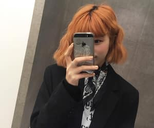 asian, girl, and orange image