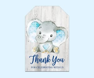 baby shower favors, thank you, and boy baby shower image