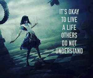 alice in wonderland, checkerboard, and live your life image