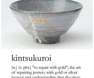 gold, broken, and art image