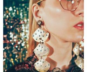 colors, earrings, and eyeglasses image