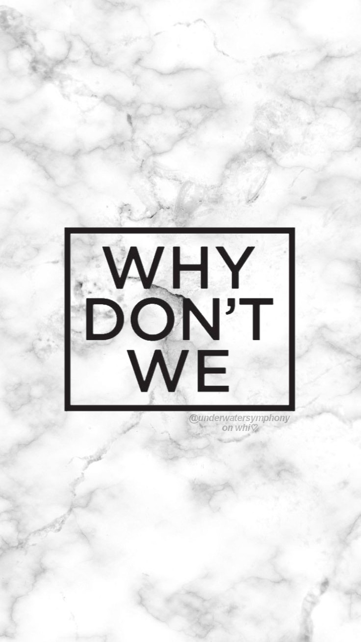 Why Don't We logo on marble wallpaper