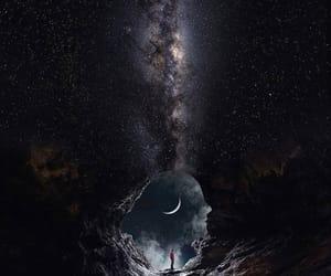 estrelas, tela de bloqueio, and lua image