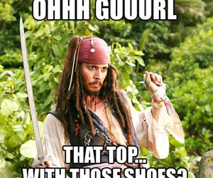 jack sparrow, johnny dep, and funny image