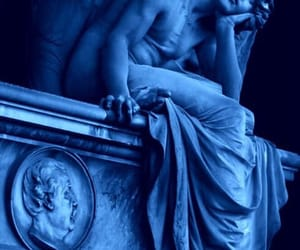 blue and sculptures image