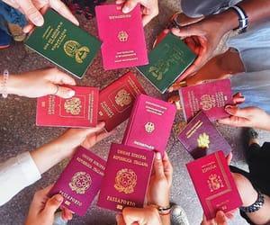 passport, travel, and happiness image