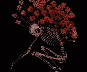 flowers and skeleton image