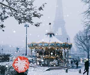snow, winter, and france image