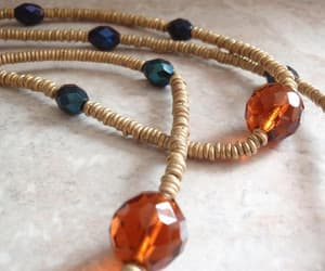 etsy, rope necklace, and faceted glass beads image