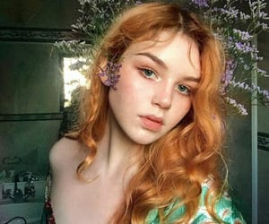 beauty, redhead girl, and bellamiie image