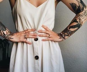 dress, tattoo, and fashion image