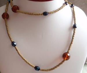 etsy, faceted glass beads, and vintage necklace image
