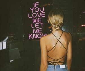 neon, phrases, and love image