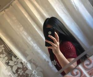 girl, mirror, and ulzzang image