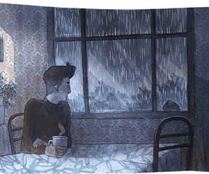 rain, anime, and gif image