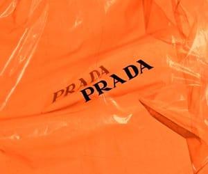 Prada, orange, and aesthetic image