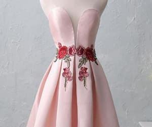 pink homecoming dresses, lace homecoming dresses, and homecoming dresses cheap image