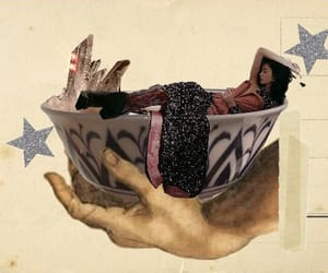 Collage, bowl, and collage art image