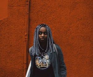 girl, orange, and urban image
