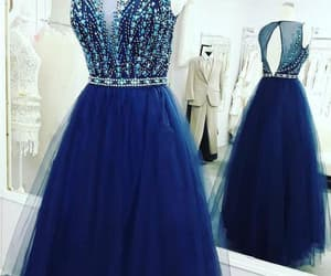 long prom dress and blue evening dress image