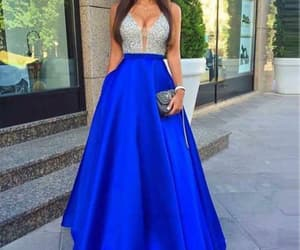 prom dress, prom dress blue, and prom dress long image