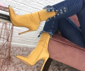 fashion, yellow, and heels image