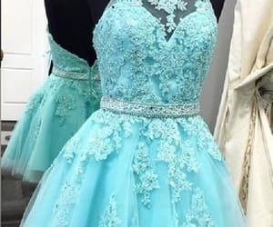 blue homecoming dress, prom dresses for cheap, and high neck prom dresses image