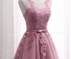 short prom dresses, cute prom dresses, and lace homecoming dresses image