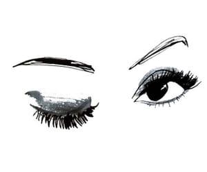 art, eyes, and flirty image