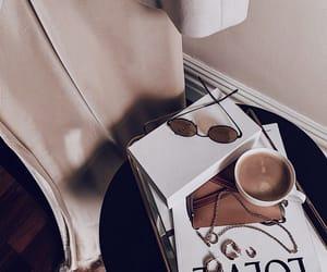 books, coffee, and decor image