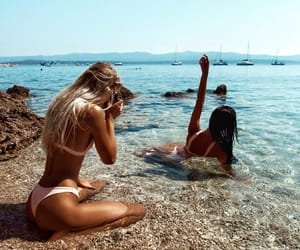 summer, beach, and girls image