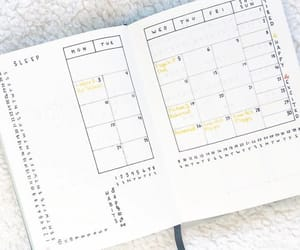 calendar, journal, and school image