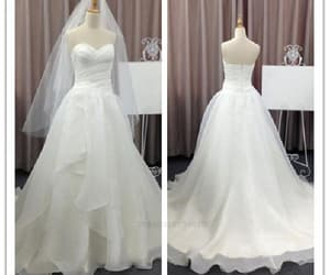 a-line wedding dresses, simple party dress, and party dress chiffon image