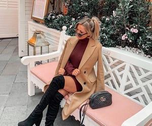 black, burgundy, and fashion image
