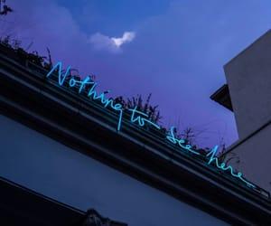 light blue, lights, and neon image