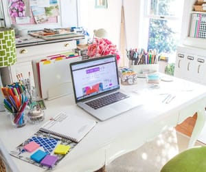 desk, room, and school image