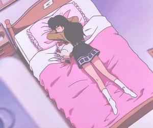 anime, sleep, and kagome image