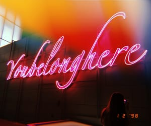 aesthetic, neon, and photography image