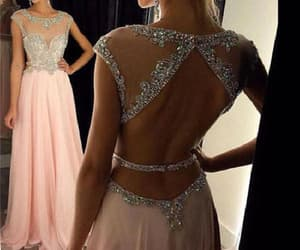prom dress, sequin prom dress, and prom dress a-line image