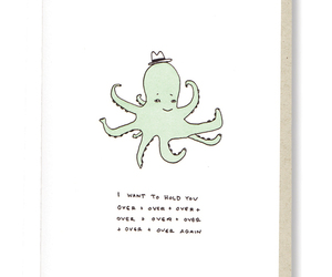 greeting card, octopus, and illustration image