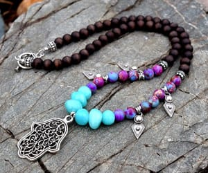 etsy, purple bead necklace, and jasper necklace image