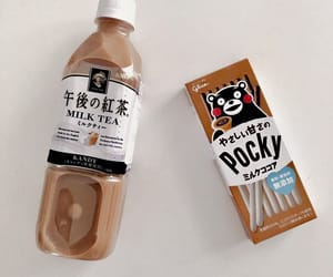 aesthetic, brown, and pocky image