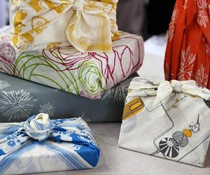 fabric, presents, and giftwrap image